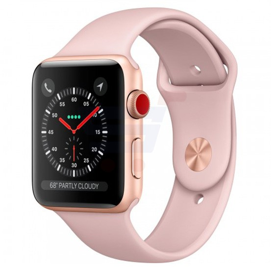 Apple Series 3 42MM Gps And Cellular MQK32 Sport Band Gold Pink