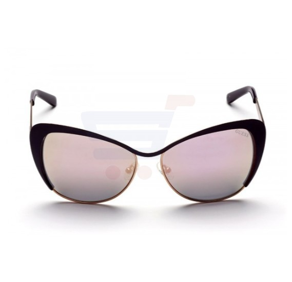 Guess Cateye Purple Frame & Purple Mirrored Sunglasses For Woamn - GU7422-81G