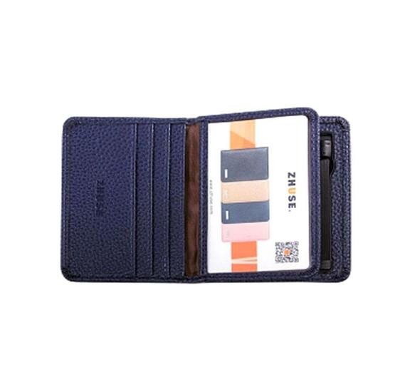 Zhuse 4000 mAh 2 In 1 Wallet Power Bank - Blue
