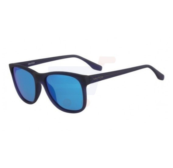 Nautica Wayfarer Dark Blue Frame & Blue Mirrored Sunglasses For Unisex - N3608SP-469