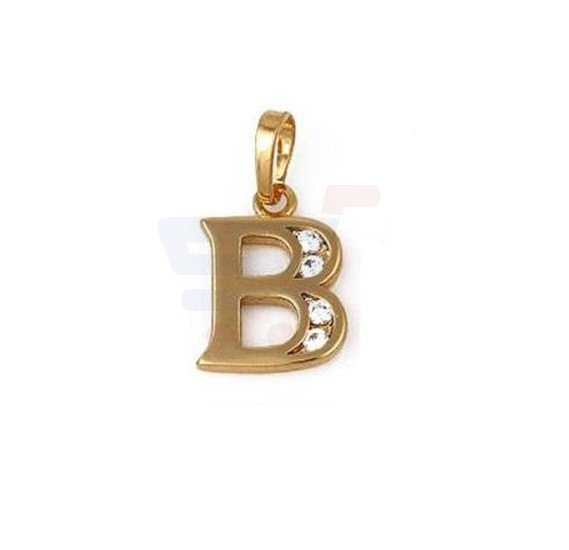 Xuping Necklace Pendant Gold Plated Letter  B