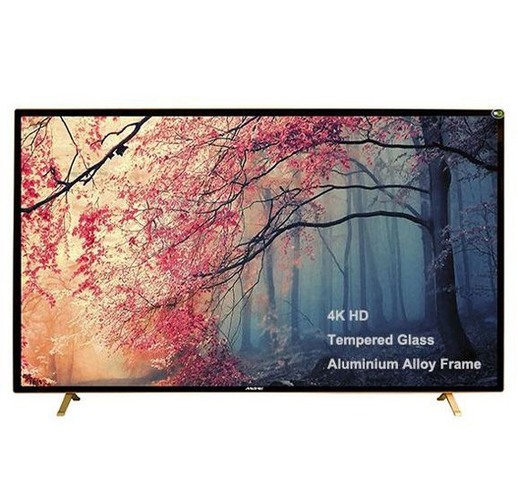 MEWE 50-Inch 4K Smart LED TV Tempered glass screen Metal Frame TA5000