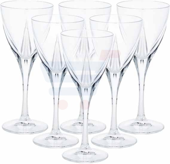 RCR Wine Crystal Glass Fusion - 6 Pieces