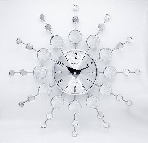 Orient spider clocks metal/glass, OC-T-2707