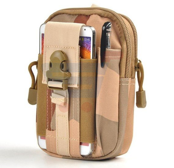 Water Resistant Outdoor Hiking Traveling Waist Pack Bag - Dark Sand