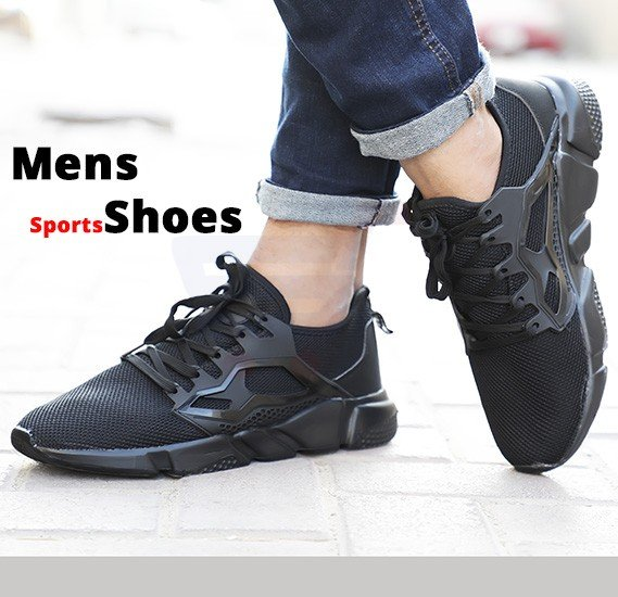 Mens Sports Shoes Black Size US 43-T2031
