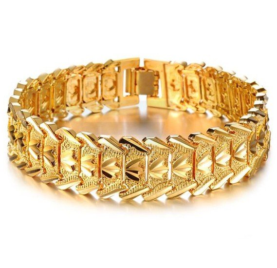 18K Gold Plated Individual Luxury Bracelet For Men - KS401