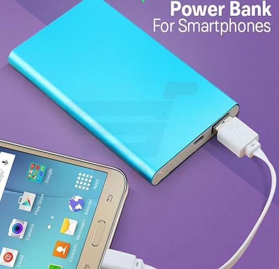 Multi color 5000 mah ultra slim power bank for smartphone