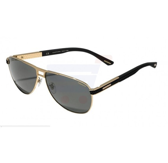 Chopard Aviator Gold Frame & Grey Gradient Mirrored Sunglass For Unisesx - SCHB80-349P