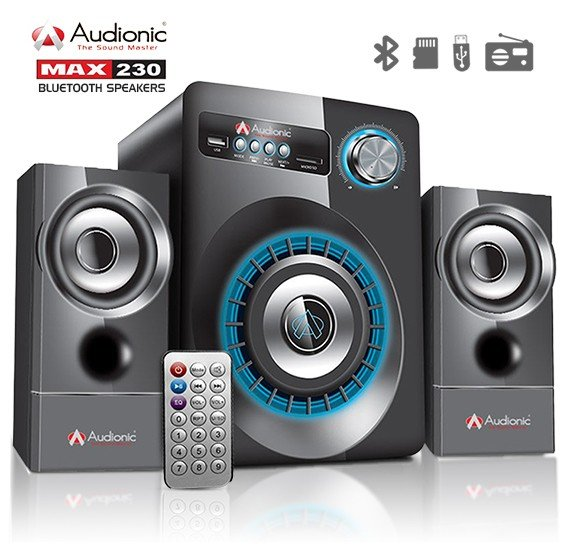 Audionic MAX 230 Bluetooth Speaker with Aux Input