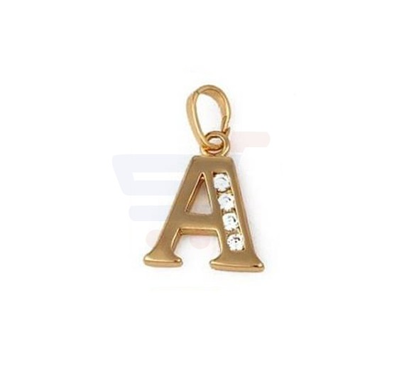 Xuping Necklace Pendant Gold Plated Letter  A