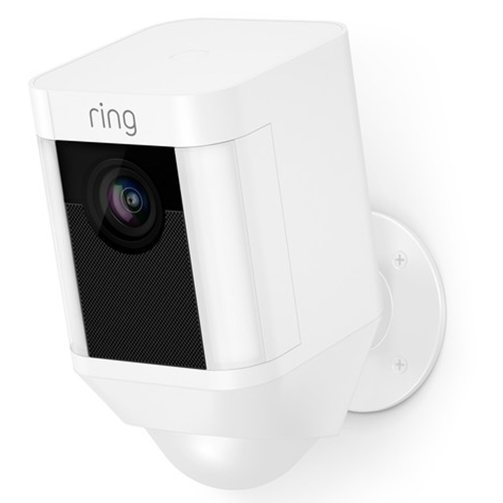 Ring Spotlight Cam 1080p Outdoor Wi-Fi Camera with Night Vision (Battery-Powered, White)-8SB1S7-WEN0