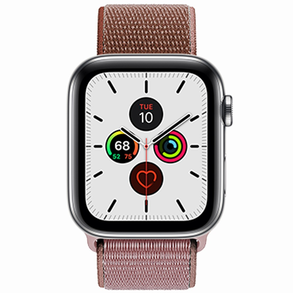 RockRose Caveman Nylon Weave Apple Watch Band for Apple Watch 42/44mm, RRBAWCP, Champagne Pink