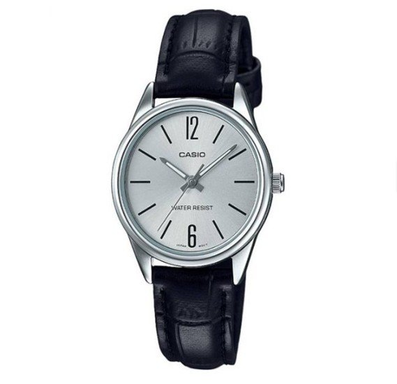 Casio Leather Strap Watch For Women, LTP-V005L-7BUDF
