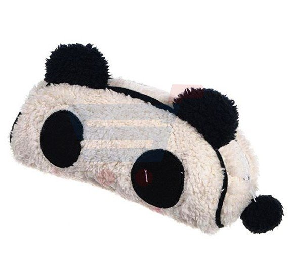 Cute Panda Soft Plush Pencil Case Pen Pocket Cosmetic Zipper wallet Buggy Bag