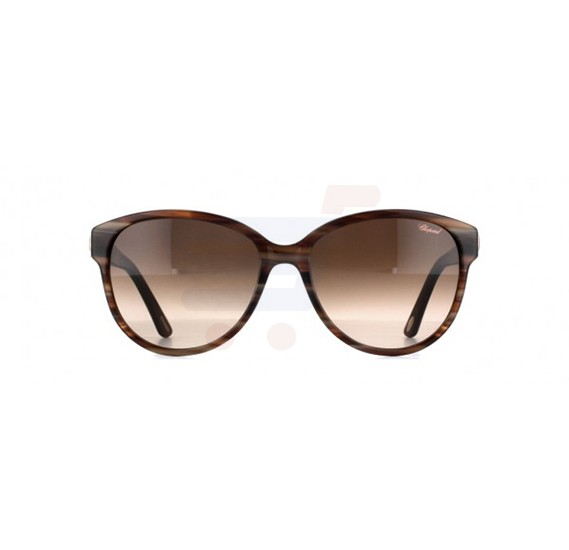 Chopard Round Havana Frame & Brown Mirrored Sunglass For Women - SCH150S-0794