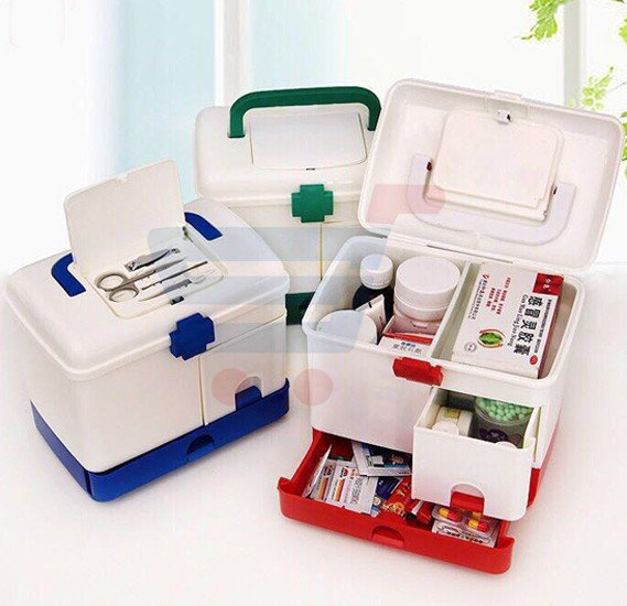 Household Multi Layer First Aid Kit Multifunctional Medicine Box First Aid Kit Storage Boxes & Bins