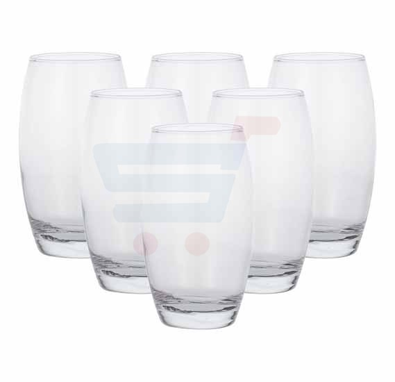 Decorium Water Tumbler Ebruli 6 Pieces, Pink