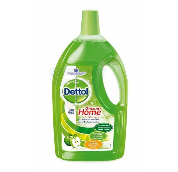 Dettol  Apple Fragrance Healthy Home All Purpose 4 in 1 Green Multi Action Cleaner 3L