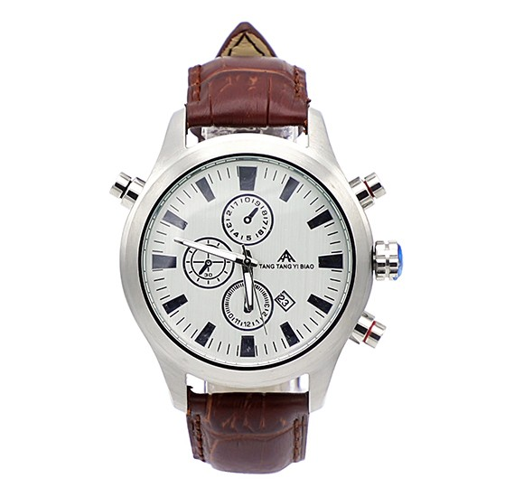 TANG TANG Spitfire Mens Watch A0013 Silver n Brown ( Bait Al )