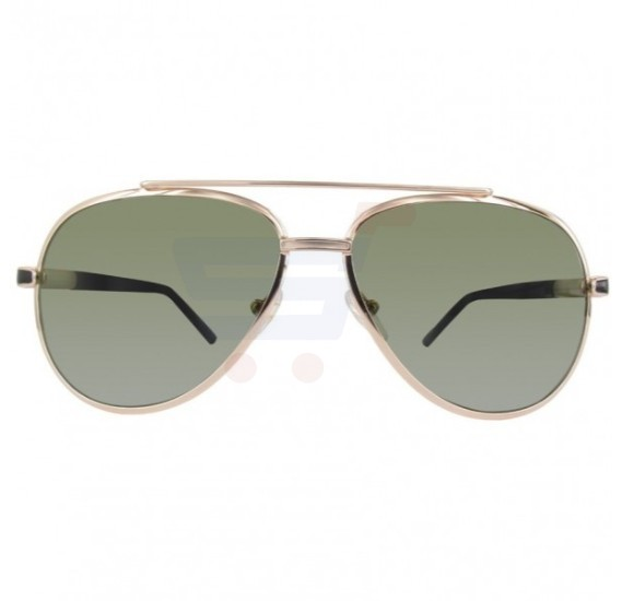 987a33519e Mont Blanc Aviator Gold Frame   Green Polarized Lenses Mirrored Sunglasses  For Men - MB511S- ...