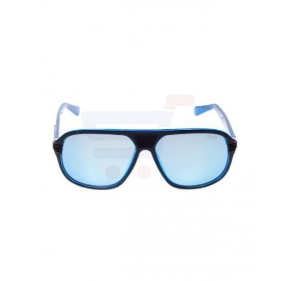 Guess Square Blue Frame & Blue Mirrored Sunglasses For Men - GU6836-01X