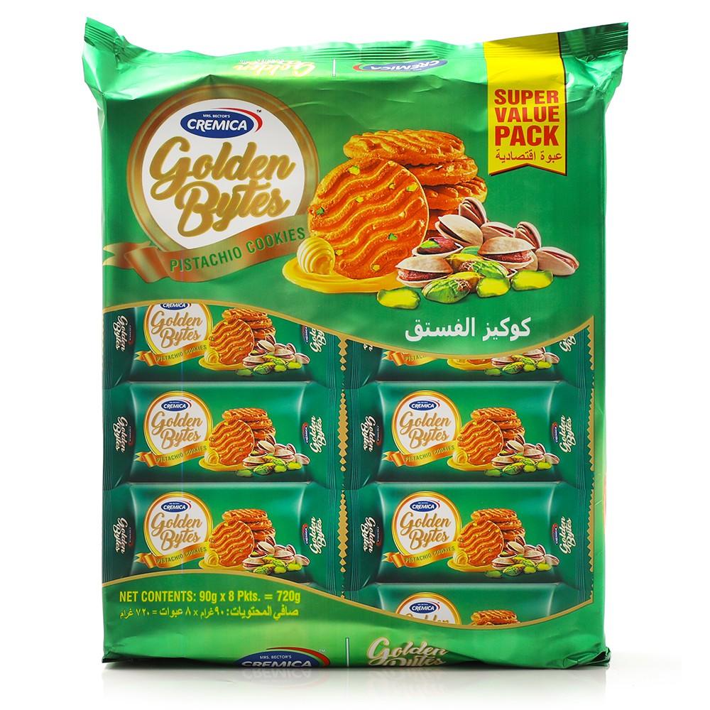 Cremica Golden Bytes Butter Pisthachio 8x90gm