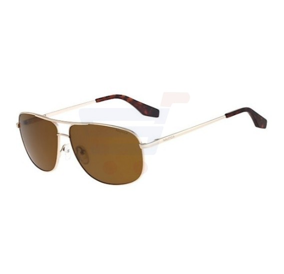 Nautica Square Gold Frame & Brown Mirrored Sunglasses For Unisex - N4606SP-717