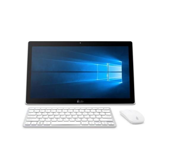 i-life Zed PC, Intel Celeron 17.3 inch Screen, 3GB Ram, 500GB Storage, 2500Mah Battery, Windows 10- White Glossy