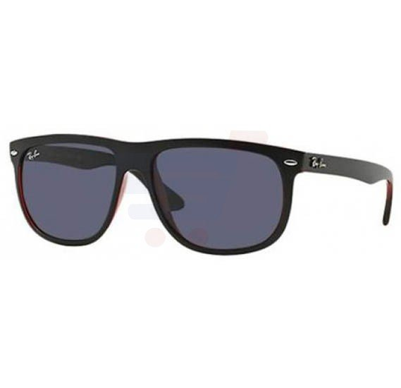 Ray-Ban Wayfarer Black Red Frame & Black Mirrored Sunglasses For Unisex - RB4147-617-187