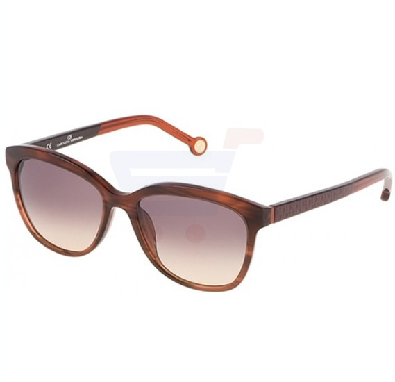 Carolina Herrera Oval Red Gradient Frame & Brown Gradient Mirrored Sunglasses For Women - SHE647-06DB