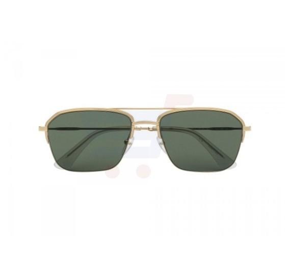 Police Half-Rim Double Bridge Shape Gold Frame & Green Mirrored Sunglasses For Men - SPL361-0349