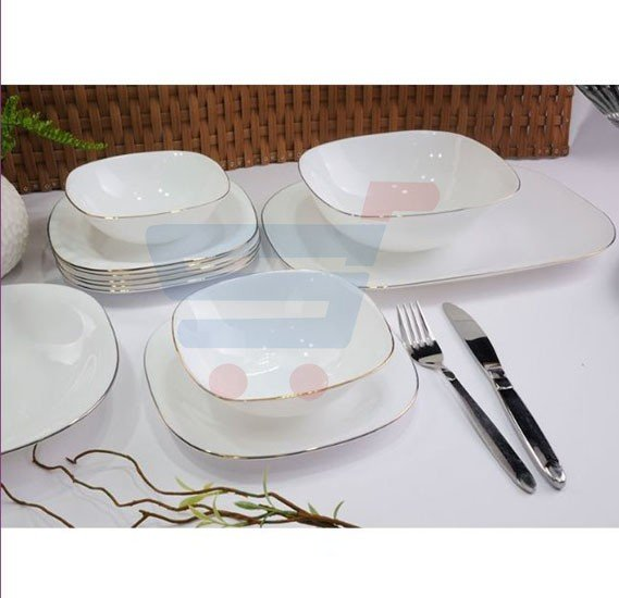 RoyalFord 36 Pieces Soft Square Dinner Set - RF7054