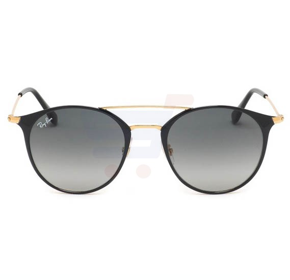 Ray-Ban Round Golden Frame & Brown Mirrored Sunglasses For Unisex - RB3546-187-71-52