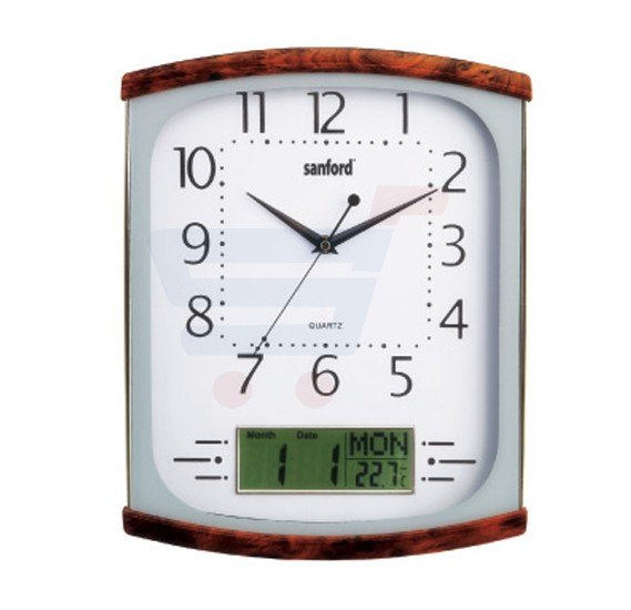 Sanford Analog and Digital Wall Clock - SF054WC