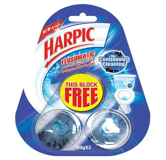 Harpic Flushmatic for Cistern Block Toilet Cleaner 50g