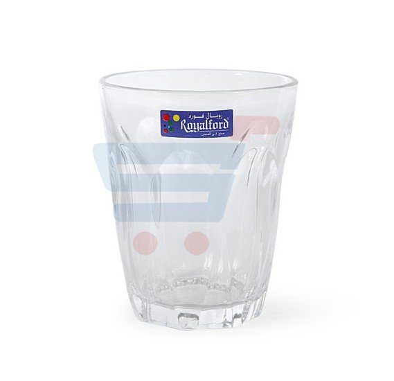 RoyalFord Glass Tumbler 6 Piece Set RF1097 GT6, 8 Oz
