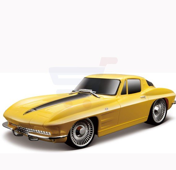 Maisto Tech R/C 1:24 1963 Corvette without Batteries Yellow - 81078