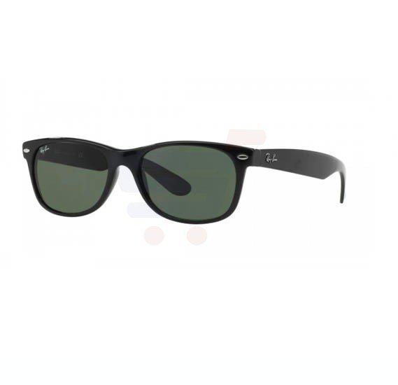 Ray-Ban Wayfarer Black Frame & Green Mirrored Sunglasses For Unisex - RB2132-622-58-55
