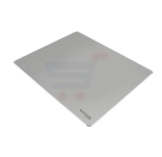 Promate Mouse Pad, Premium Ultra-Slim Aluminium Mouse Pad with Anti-Skid Rubber Base, Optimized Tracking Surface and Large Working Area for iMac, MacBook Pro, Laptops, PC, Any Optical Laser Mice, MetaPad-2.Silver