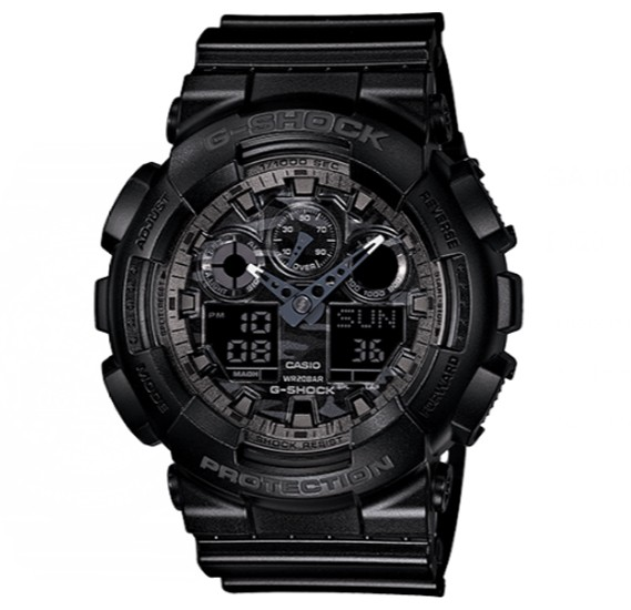 Casio G-shock Digital Analog Watch Black, GA-100CF-1ADR
