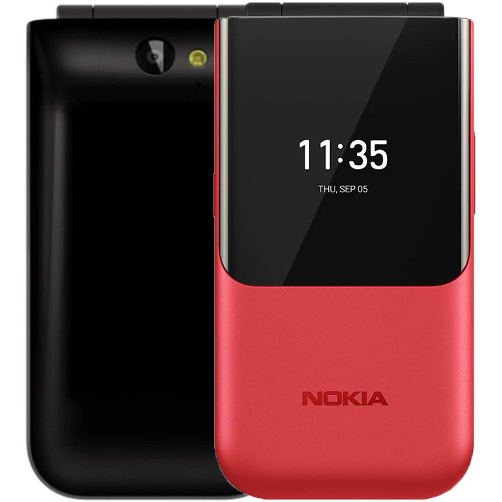 Nokia 2720 Flip Dual SIM 4GB 512MB RAM 4G LTE, Red