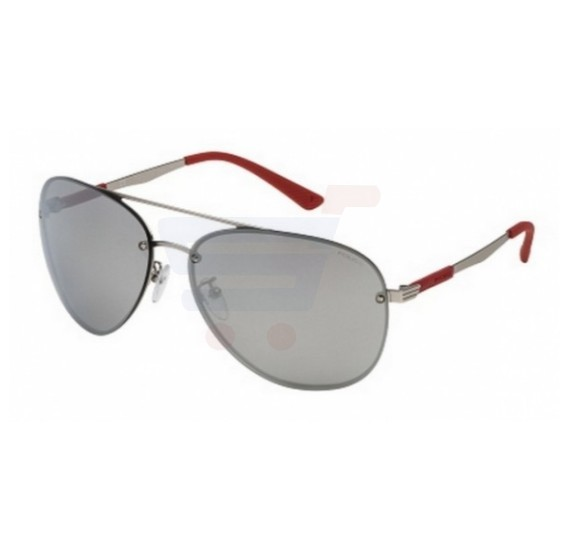 Police Aviator Frame & Grey Mirrored Sunglasses For Unisex - SPL379-581X