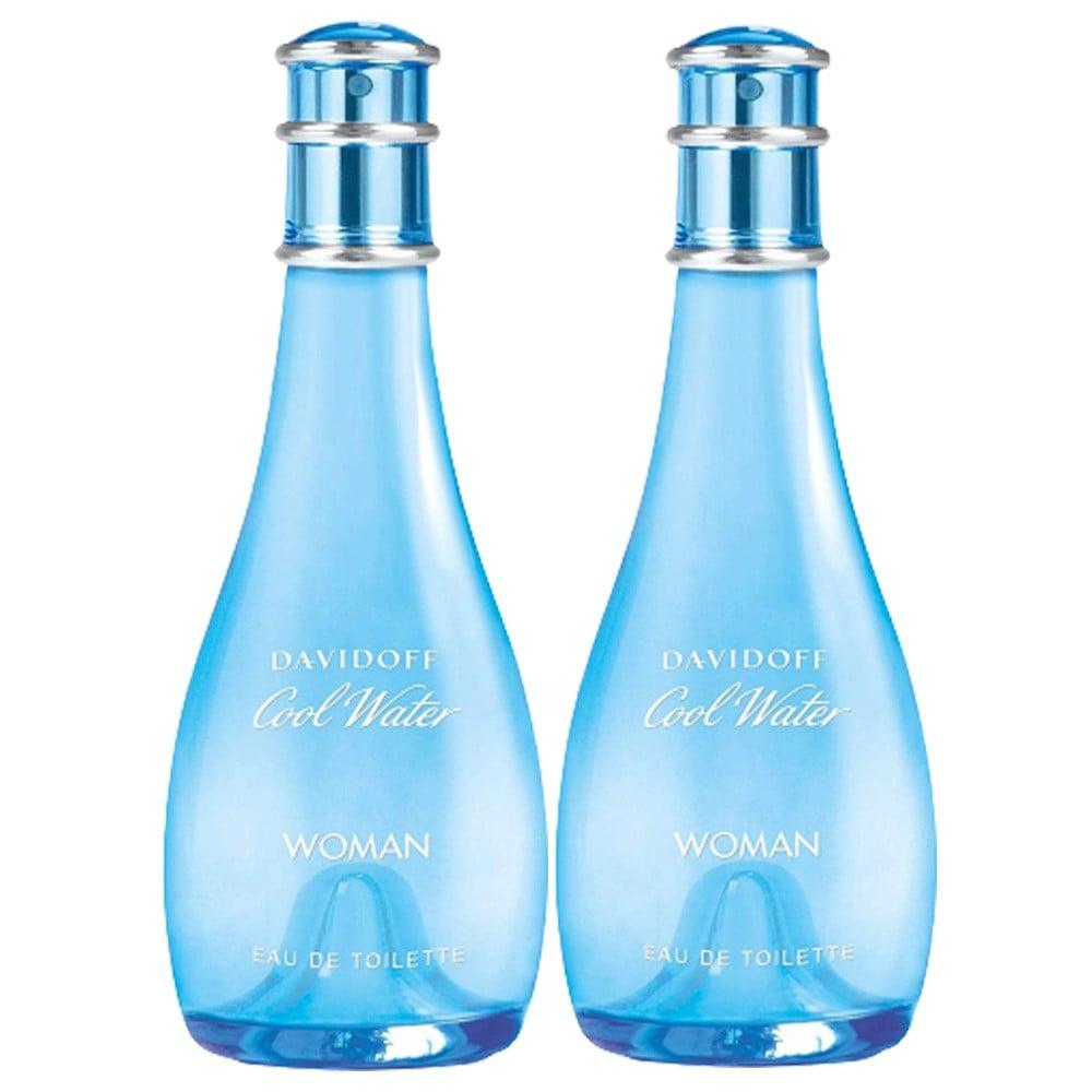 2 In 1 Davidoff Cool Water 100ml Edt Spray For Women