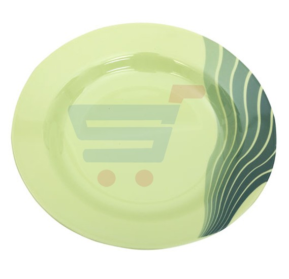 Royalford Melamine Ware 9 Inch Soup Plate Radiant Thai Green - RF8158