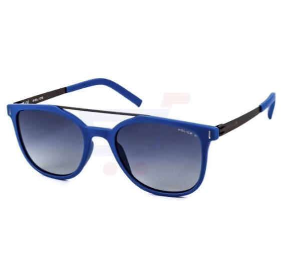 Police Oval Blue Frame & Grey Mirrored Sunglasses For Men - SPL169-J15P