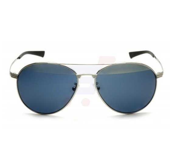 Police Round Shiny Palladium Frame & Silver Mirror / Smoke Mirrored Sunglasses For Men - S8953V579H