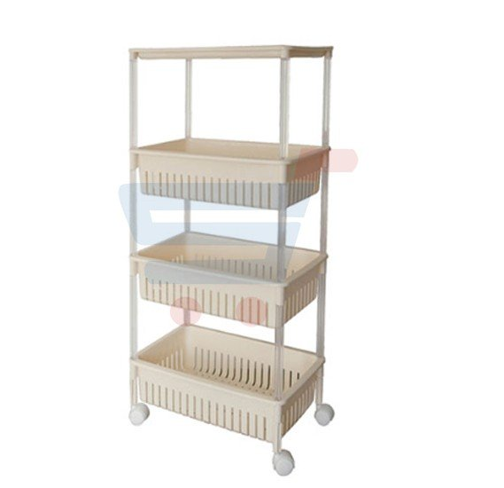 Royalford 4 Layer Kitchen Store Rack 47x28x95.5CM - RF7750