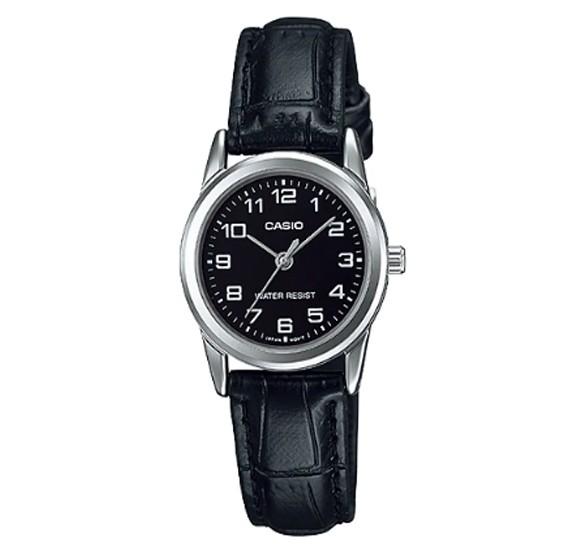 Casio Genuine Leather Watch For Women, LTP-V001L-1BUDF
