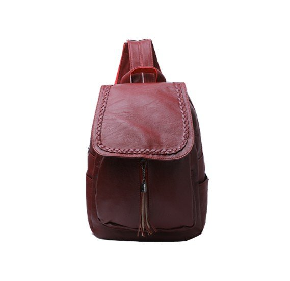Leather Bags For Las Dark Mahroon